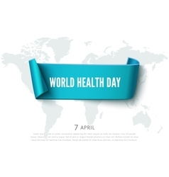 Health day concept with green paper ribbon banner vector