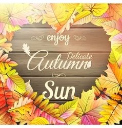 Autumn typography poster EPS 10 vector image