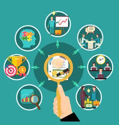 business round flowchart composition vector image