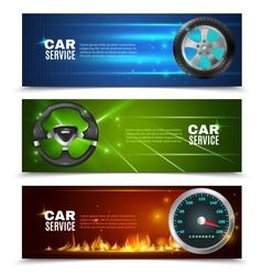 Car service horizontal banners vector