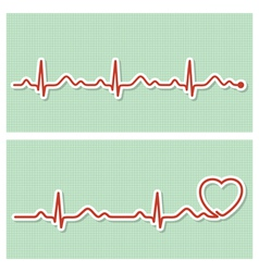 Cardiogram banners vector image vector image