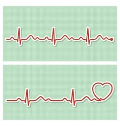 Cardiogram banners vector
