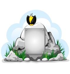 cartoon crow perched vector image