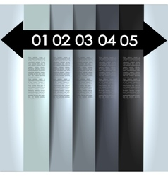 Clean numbered banners vector