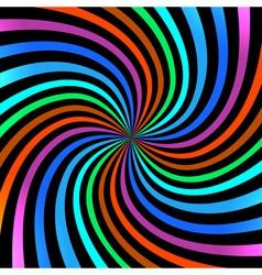 Colorful bright spiral background logo design elem vector