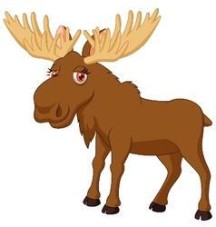 Cute moose cartoon vector