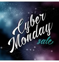 Cyber monday lettering sale background vector