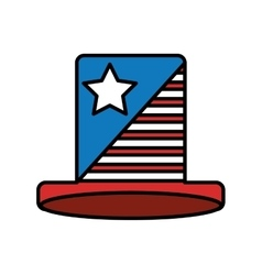 Hat with usa flag icon vector
