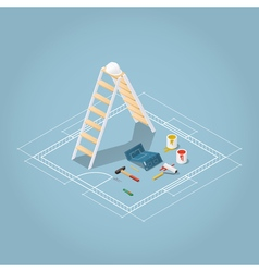 Isometric renovation vector image vector image