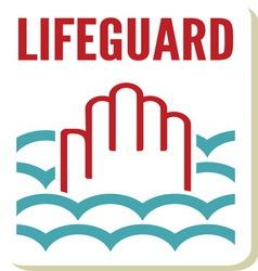 Lifeguard sign vector