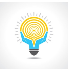 Light-bulb made by hands vector image