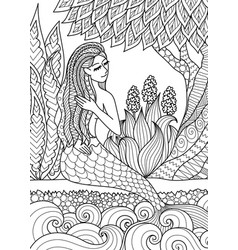 mermaid 6 vector image