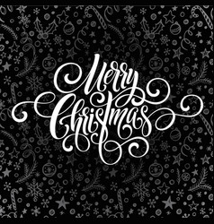 Merry christmas greeting handwriting scrip vector