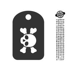 morgue mark icon with men bonus vector image vector image