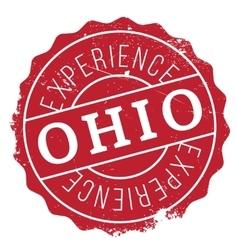 Ohio stamp rubber grunge vector