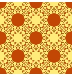 Seamless abstract pattern on yellow texture vector