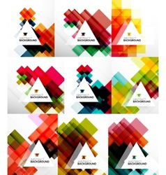 Set of square abstract backgrounds vector image