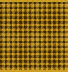 yellow lumberjack seamless pattern vector image vector image