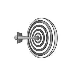Darts icon black monochrome style vector