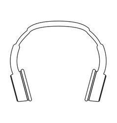 Headphones the black color icon vector