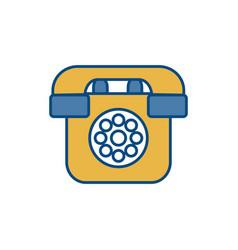 Retro telephone icon vector