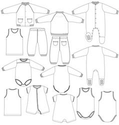 Kids underwear vector