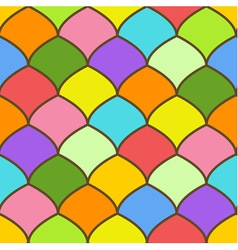 Seamless pattern made of rainbow colored scales vector