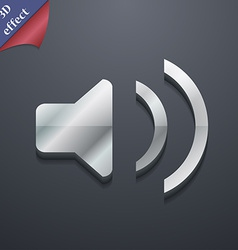 Speaker volume sound icon symbol 3d style trendy vector