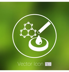 hexagonal abstract icons business and vector image