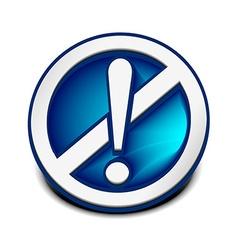 Attention web icon vector