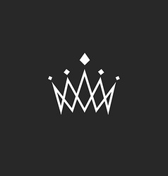 Crown design element monogram abstract logo thin vector