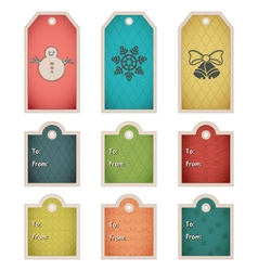 Winter holiday gift tag template vector