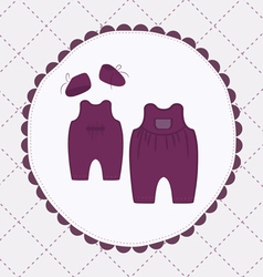 Baby cloths vector