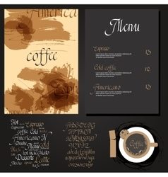 Kafe menu set vector