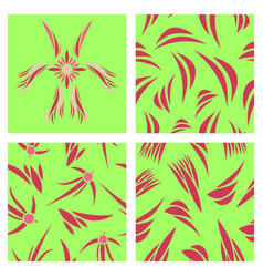 assembly of patterns in flower style vector image vector image