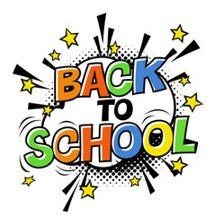 back to school logotype on white halftone vector image vector image