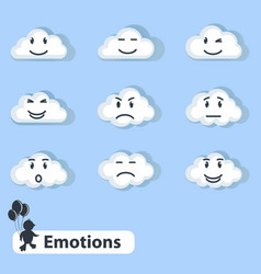 clouds with emotions vector image