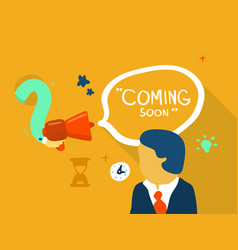 coming soon sign vector image vector image