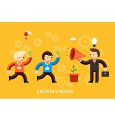 Crowd funding concept vector image vector image