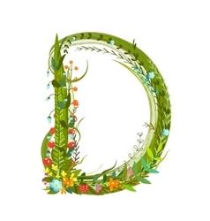 Flower blossom decorative botanical elegant vector image