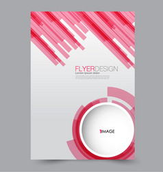flyer design background brochure template vector image