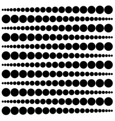 Geometric pattern widening circles from a point to vector