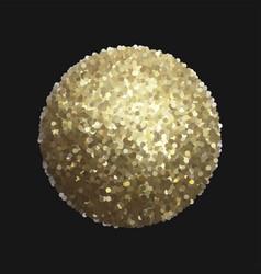 Golden sphere isolated on black vector