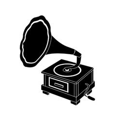 Gramophone vintage icon image vector