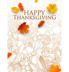 happy thanksgiving holiday festival background vector image vector image