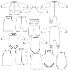 Kids underwear vector image