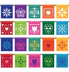 Mexican papel bunting vector