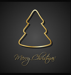 modern golden christmas trees on black background vector image vector image