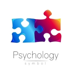Modern psi sign of psychology puzzle creative vector