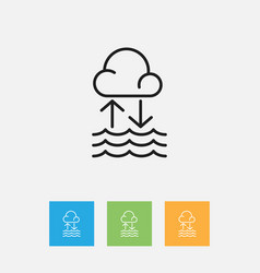 of air symbol on water cycle vector image